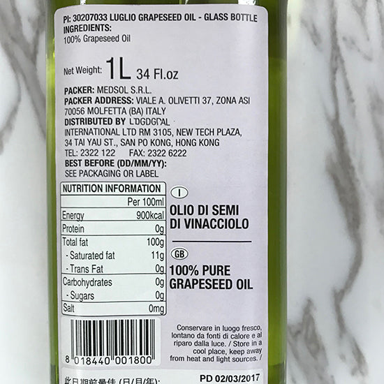 Grapeseed Oil 1 Ltr.