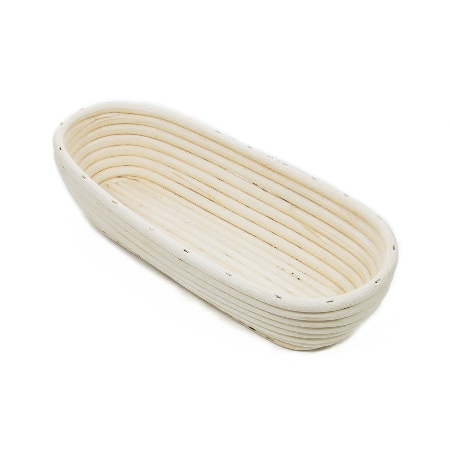 Banneton oval  26x14 cm bread dough proofing basket with canvas