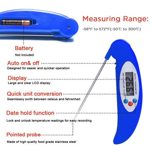 Digital thermometer foldable