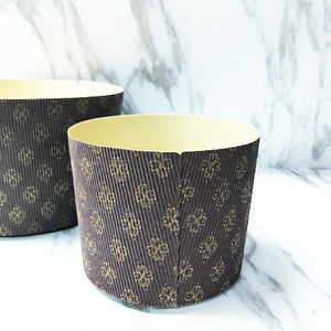 Panettone Paper form | Heavy Corrugated Gold