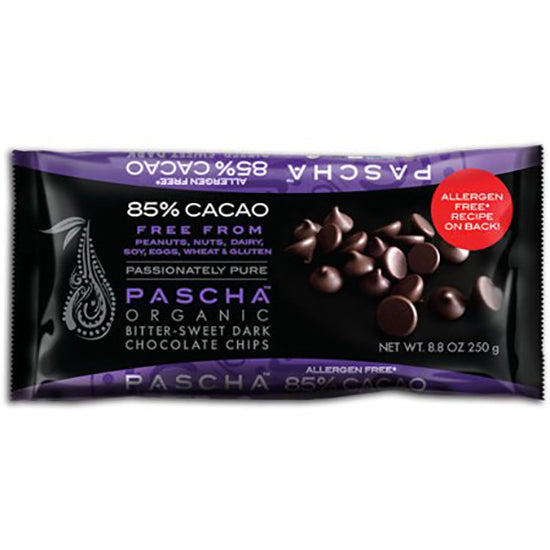 Organic  Vegan Dark Chocolate Baking Chips 85% Cacao bitter sweet