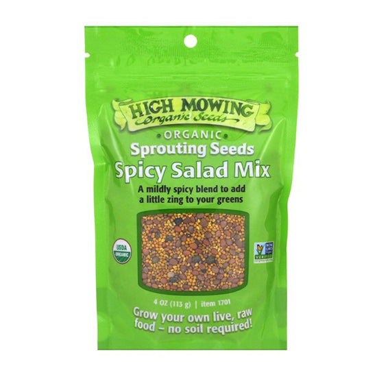 Organic Spicy Salad Mix seeds | Sprouting Seeds