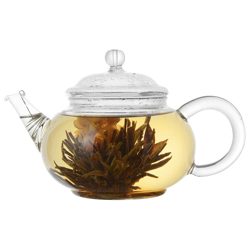Glass tea pot and Blooming tea