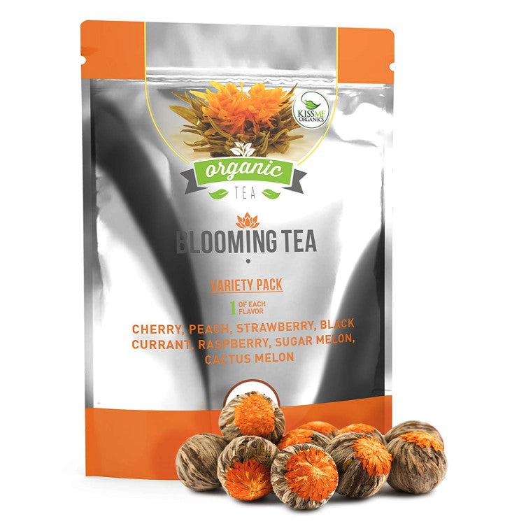 Organic blooming tea