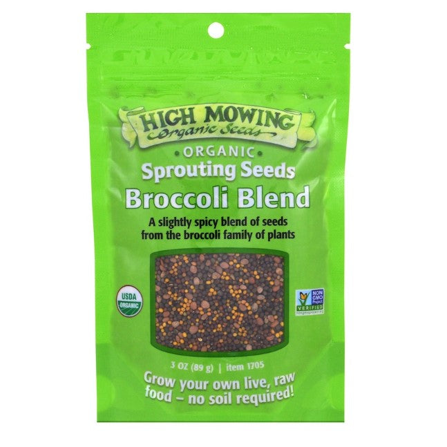 Organic Broccoli seeds blend | Sprouting Seeds