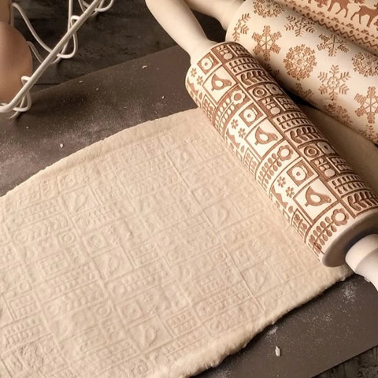 Embossing rolling pin- Bird