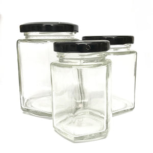 Hexagon Glass Jars
