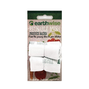 Reusable mesh produce sacks | reusable produce bag with toggle closure