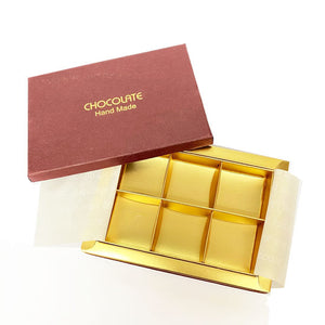 Copy of Chocolate Praline Box-Red for 6 pieces