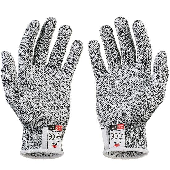 NoCry Cut Resistant Gloves with Grip Dots Level 5