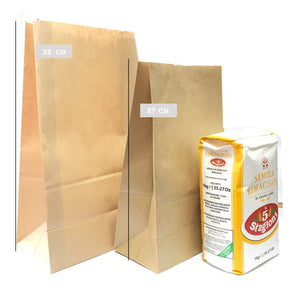 Kraft paper bag 27 cm 50pieces