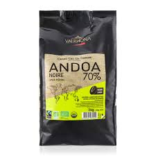 70% ANDOA NOIRE Valrhona Feves Organic chocolate 3kg