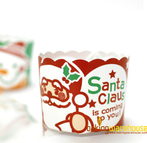 X'mas muffin cup-Red