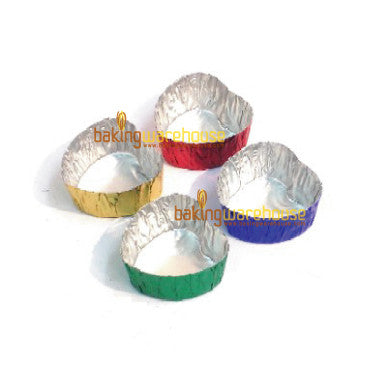 aluminium colour heart cup (for choc.)