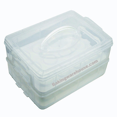 Two tier Cupcake Carrier - storage box