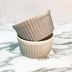 Porcelain Ramekin Grey color