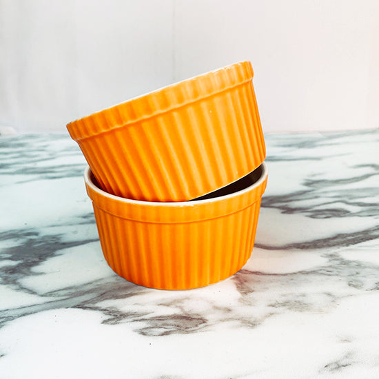 Porcelain Ramekin Orange color