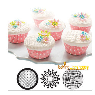Cupcake and cookie texture tops -Geometric texture