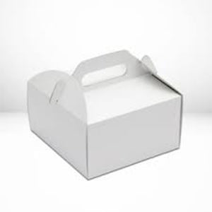 6 inch cake White cake box with handle
