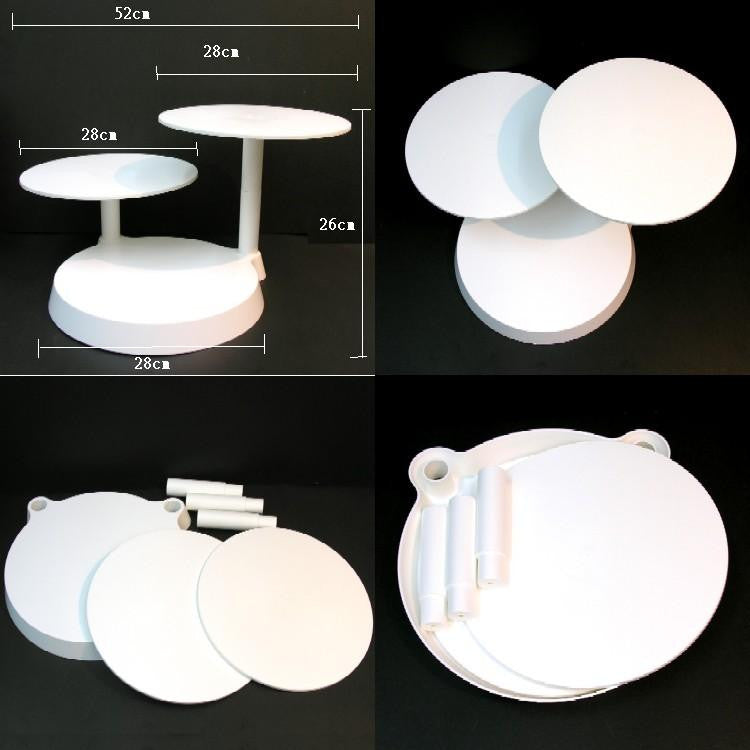 Plastic cake stand for 3 x 28 cm cake
