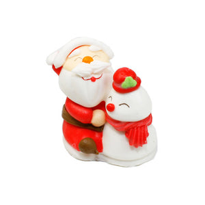 Sugar Santa Claus and Snowman