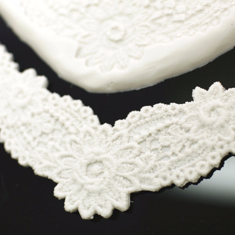 Silicon lace mould - Daisy Lace border