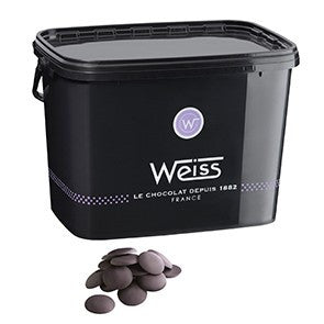 Weiss 85% Dark chocolate button