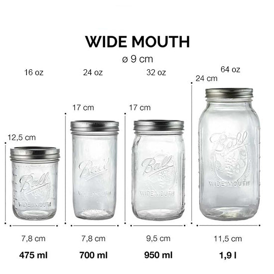 Ball Mason Jar 32oz Wide mouth