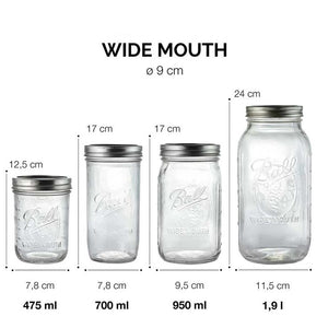 Ball Mason Jar 24oz Wide mouth