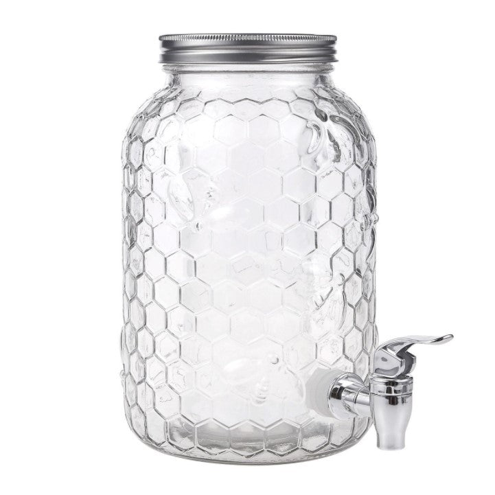 Glass Dispenser 4L - Honeycomb