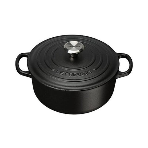Le Creuset cast iron pot Black (20cm/24cm)
