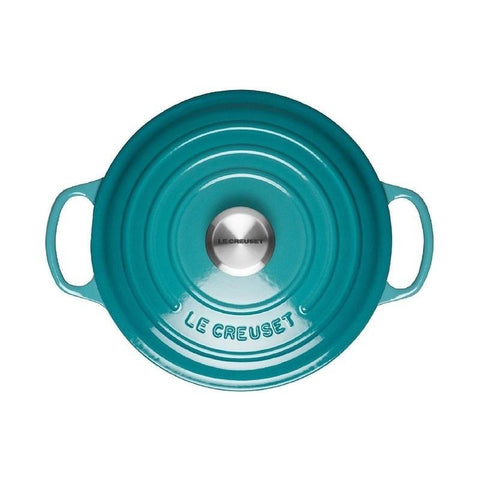 Le Creuset cast iron pot Green Lake (20cm/24cm/26cm/28cm)