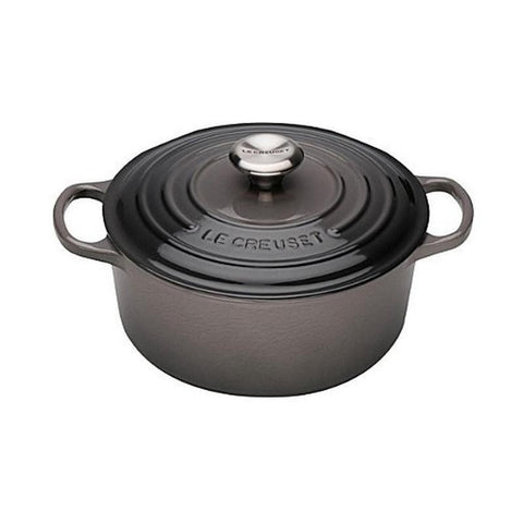 Le Creuset cast iron pot Jet Black (20cm/24cm/28cm)