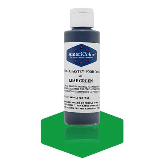 Americolor -LEAF GREEN 4.5 oz Soft Gel Paste