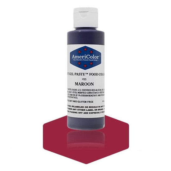 Americolor -MAROON 4.5 oz Soft Gel Paste