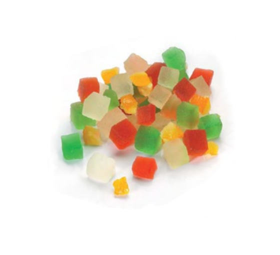 Candied Mixed Fruit Cubes 6mm