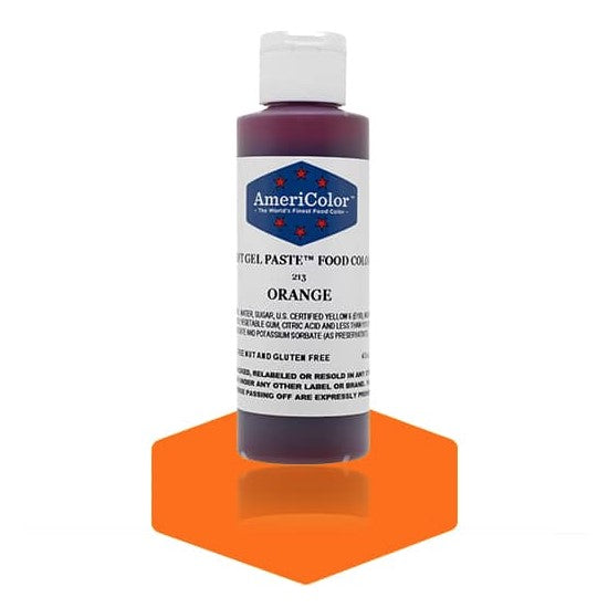 Americolor -ORANGE 4.5 oz Soft Gel Paste