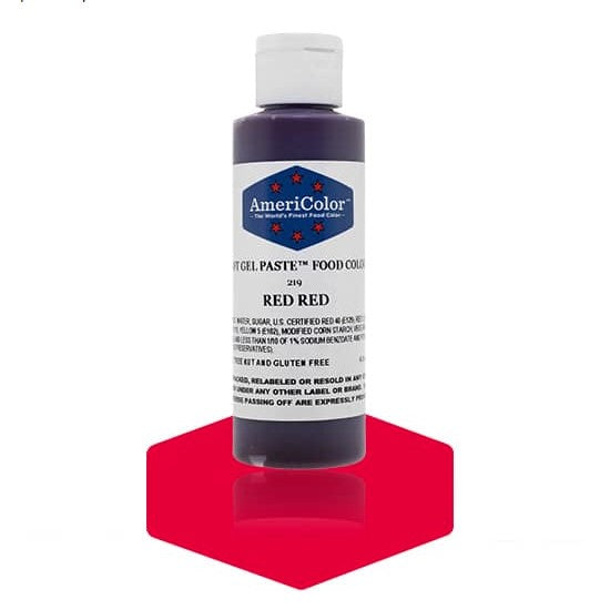 Americolor -RED RED 4.5 oz Soft Gel Paste