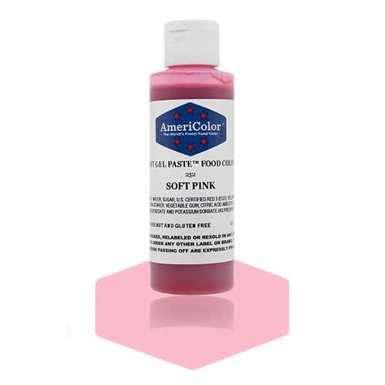 Americolor -SOFT PINK 4.5 oz Soft Gel Paste