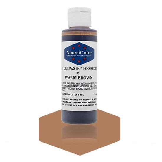 Americolor -WARM BROWN 4.5 oz Soft Gel Paste