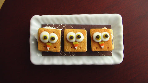 Owl S'mores Halloween Party Snacks