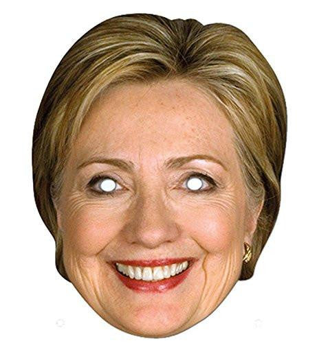 Election Paper Mask Female Candidate Hillary Clinton