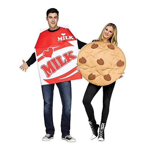 Unisex Milk & Cookie Couples Costume
