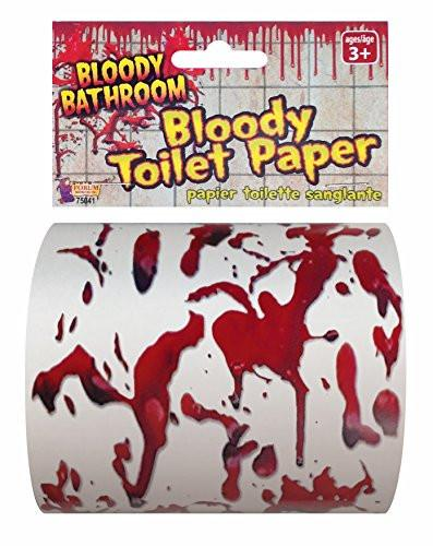 Bloody Bathroom Toilet Paper, Red/White