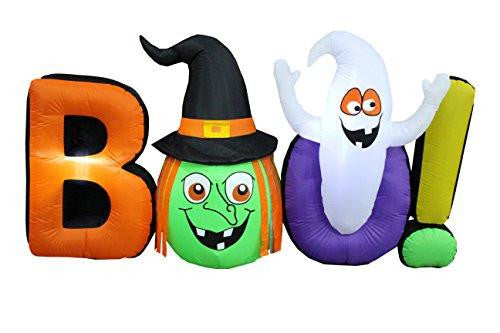 8 Foot Long Halloween Inflatable Witch Ghost BOO