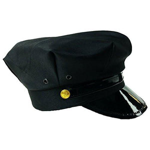 Black Chauffeur Taxi Limo Driver Hat Cap