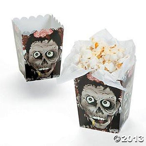 Halloween Zombie Head Mini Popcorn Boxes - 12 ct