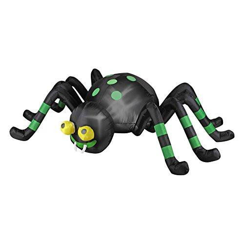 Halloween Inflatable 8' Animated Spider with Spinning Eyes