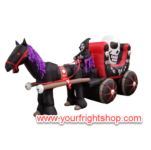 Inflatable Grim Reaper Carriage