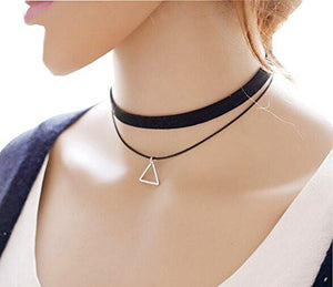 Western Style Multilayer Choker Necklace Clavicular Chain